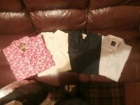 Gents Bundle of 4 Shirts, 3XL, Beige, Red, Navy/Black & Grey