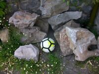 Large rockery stones/wall toppers