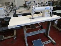 NEW JUKI DDL 8100E INDUSTRIAL SEWING MACHINE COMPLETE WITH STAND & SERVO MOTOR