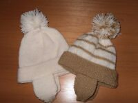 Hand Knitted baby hats fit 6-12 months