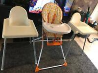 Childminder clear out - high chairs