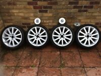 "Ford Fiesta ST 17"" ALLOYS with New Tyres. REFURBED MINT condition (Breaking Spares) mk6"