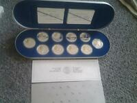 RCMint $20 Silver coin set Airplane Coins with gold cameo