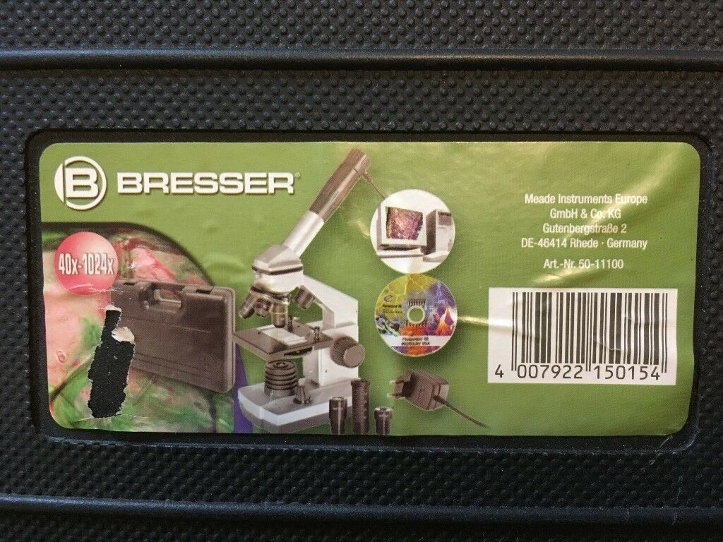 Bresser junior microscope set 40x 1024x usb view slides on your
