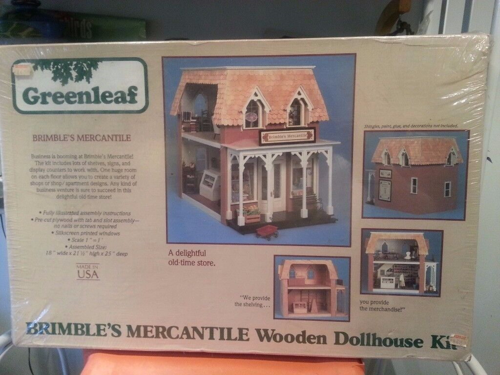 The Brimbles Mercantile - Greenleaf Dollhouses Company Store kit to build, perfect XMas PRESENT