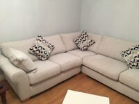 Corner sofa with large chair and foot stool BRAND NEW
