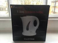 LLOYTRON 1 Litre cordless Kettle (new)