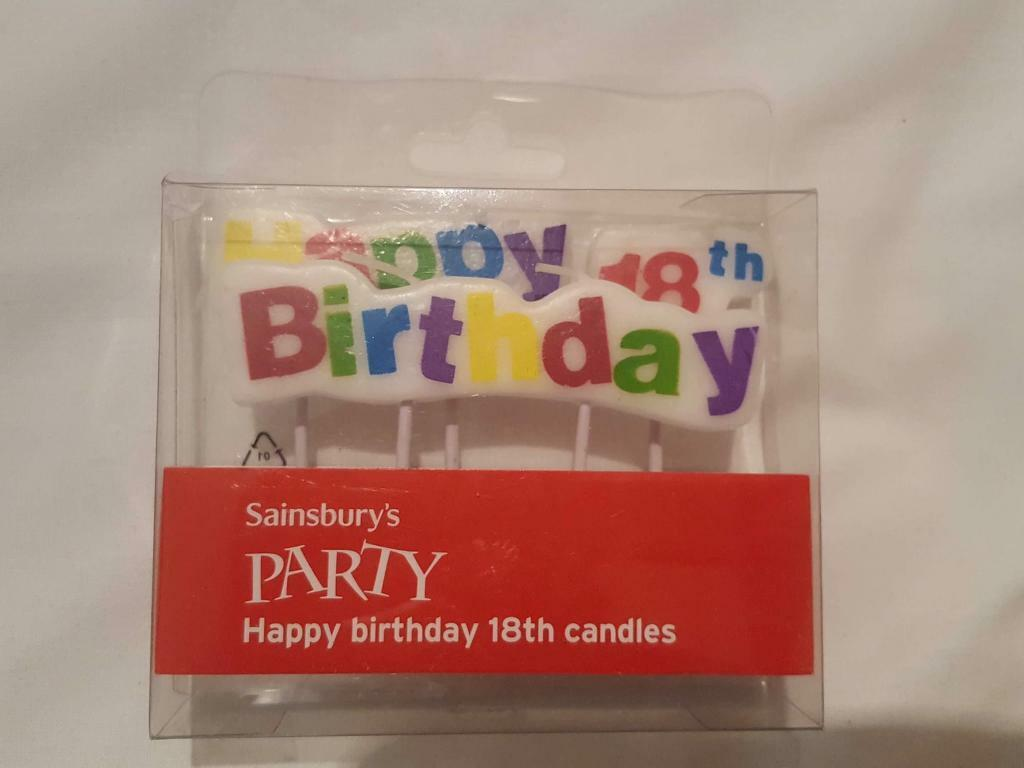 Brand New 18th Birthday Candles