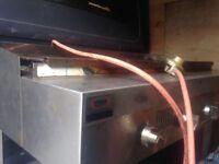 Gas charcoal grill (unique)