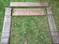 Victorian or Edwardian Cast Iron Fireplace Mantel Surround