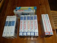 12 vhs video's
