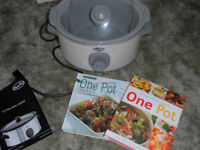 Breville Slo Cooker-family size with cook books / George Foreman Grill