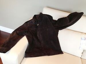 Men's Large Dark Brown Suede Coat - Excellent Condition Kitchener / Waterloo Kitchener Area image 1