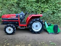 MITSUBISHI MT226 4WD Compact Tractor & New Flail Mower *** WATCH VIDEO *** ** 981 Hours ** 22HP