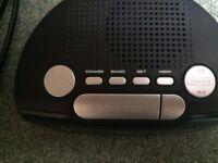 LED Digital Alarm Clock - with analogue radio