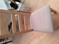 Chairs x2 Solid Oak Dining Kitchen Breakfast Study Chairs x2 both nearly new