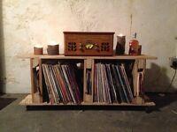 Vintage vinyl containers