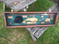 Vintage look fishing case display