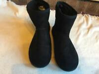 Black ladies boots suede size 6/39 used