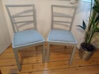 Pair lovely vintage CC41 chairs bedroom dining Annie Sloane Liberty print