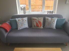 2 Grey Sofas, Great Condition, Modern & Stylish