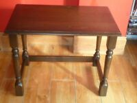 Small dark wooden table