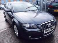 AUDI A3 SPORTBACK 2.0TDI 140SE 5 DOORS DIESEL MANUAL DVD PLAYER