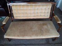 Edwardian inlaid sofa