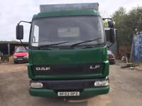 Daf lf 7.5 ton cattle float long mot