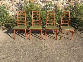 Niels Koefoed Teak 'Lis' Set of 4 Dining Chairs