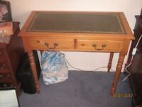 lovely pine leather inlay desk