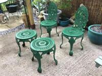Garden cast iron chairs