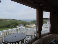 'Wreckers Retreat' Super Caravan rent/hire CORNWALL SEA VIEWS LOOE POLPERRO not devon somerset bath