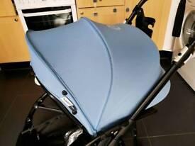 Bugaboo Bee 3 Extendable Sun Canopy Hood Ice Blue Pushchair/Pram Accessory