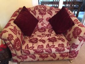 Four seater sofa, three seater and love seat