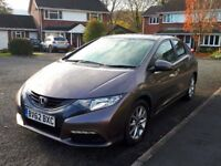 HONDA CIVIC 1.8i V-TEC (PETROL). LOW MILEAGE (42,500). 5 DOOR HATCHBACK.HONDA FSH. TAXED AND MOT.