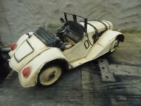 OLD STYLE TIN PLATE SPORTS CAR IN GOOD CONDITION