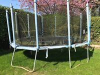 Trampoline and Goal Post