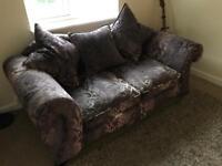 DFS Opera 2 Seater Sofa - Purple with flower pattern
