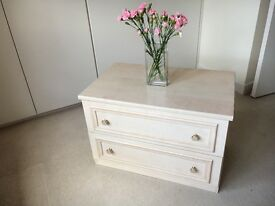 2 drawer chest. Beautiful custom made in Ash warm wood. 2 matching units for sale.