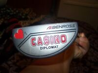 benross casino mallet putter with headvover