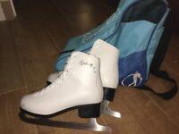 Galaxy SR Ice Skates size 4 (including bag)