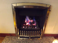 Natural Gas Real Flame Fire for traditional flue