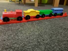 Toy train track retro