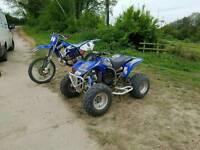 2003 yamaha bladter 200cc 2stroke offroad quad