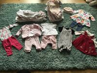 Newborn/first size baby girl bundle