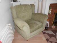 brass fire fender + armchair