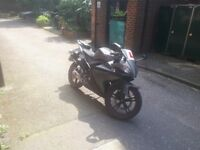 2013 Yamaha YZF R125 125cc Motorcycle Full Service History, Low Milage, Scorpion Exhaust