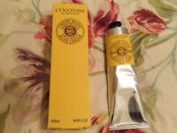 L'occitane vanilla hand cream, 150mls, new.