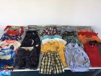 9 Boys Clothes Bundle Age 3 Gap, Baker Boys, Shirts, Sweat Pants, Sun Shirts, Togs
